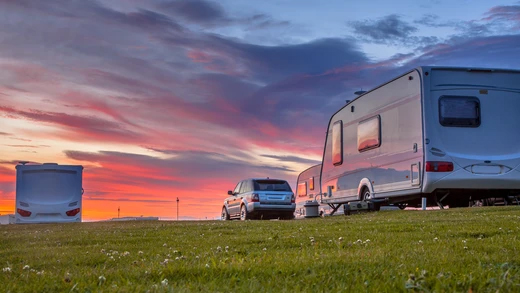 bigstock-Camping-Caravans-And-Cars-Park