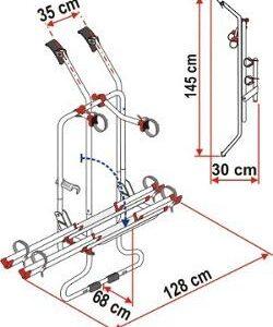Fiamma Carry Bike Rack VW T4 D - 3